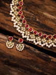 Only at Rs. 582 Gold Toned & Ethnic Kundan Jewellery Set