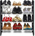 Zeom Plastic Collapsible Shoe Stand  (4 Shelves)