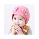 Ziory Warm Cotton Cap With Ear – Pink