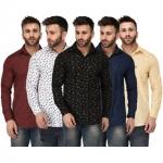 Zories Men's Shirts (Combo Of 5)