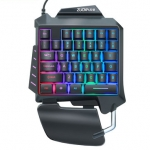 Wired Single Handed RGB Gaming Membrane Keyboard